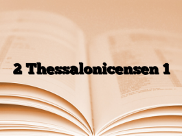 2 Thessalonicensen 1