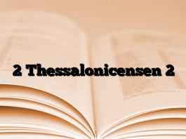 2 Thessalonicensen 2