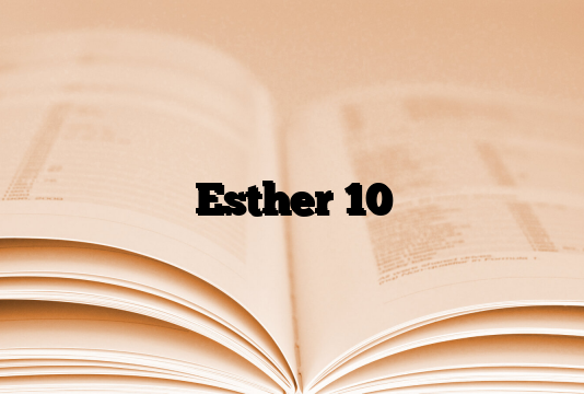 Esther 10